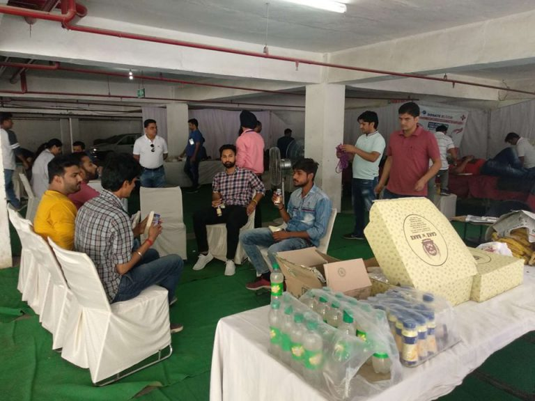 Organising Blood Donation Camp