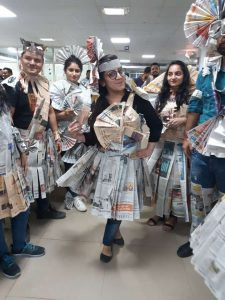 Newspaper Dress Competition